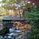 New England Covered Bridge In Western Mass